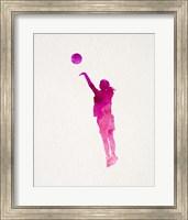 Basketball Girl Watercolor Silhouette Part IV Fine Art Print