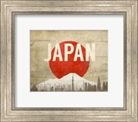 Tokyo, Japan - Flags and Skyline Fine Art Print