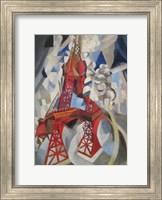 Red Eiffel Tower Delaunay 1911 Fine Art Print