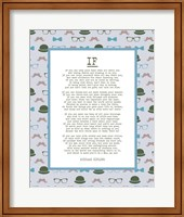 If by Rudyard Kipling - Retro Blue Fine Art Print