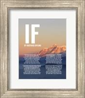 If by Rudyard Kipling - Mountain Sunset Fine Art Print