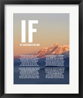 If by Rudyard Kipling - Mountain Sunset Fine Art Print