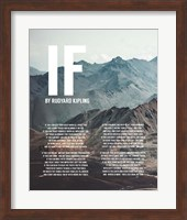 If by Rudyard Kipling - Mountains Fine Art Print