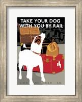 Take Your Dog by Rail Fine Art Print