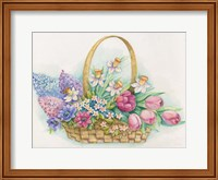 Basket of Flowers Fine Art Print