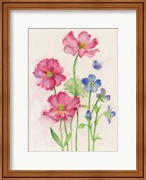 Pink & Blue Flowers Fine Art Print