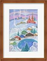Village in Winter Fine Art Print