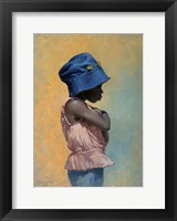 Girl with Hat Fine Art Print