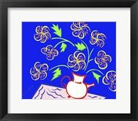 Teapot Vase - Blue Fine Art Print