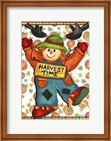 Scarecrow And Pumpkins Fine Art Print