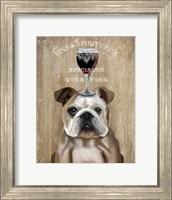 Dog Au Vin, English Bulldog Fine Art Print