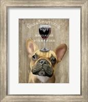 Dog Au Vin, French Bulldog Fine Art Print