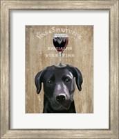 Dog Au Vin, Black Labrador Fine Art Print