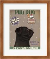 Pug, Black, Ice Cream Fine Art Print