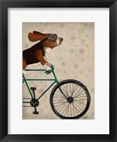 Basset Hound on Bicycle Fine Art Print
