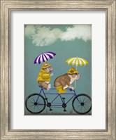 English Bulldog Tandem Fine Art Print
