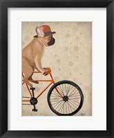 French Bulldog on Bicycle Fine Art Print