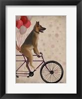 German Shepherd on Bicycle Fine Art Print
