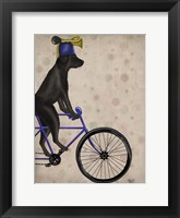 Black Labrador on Bicycle Fine Art Print