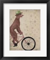 Poodle on Bicycle, Brown Fine Art Print