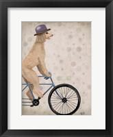 Poodle on Bicycle, Cream Fine Art Print
