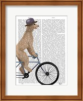 Poodle on Bicycle, Cream Fine Art Print