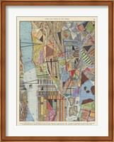 Modern Map of New York I Fine Art Print