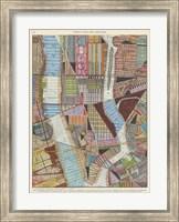 Modern Map of New York II Fine Art Print
