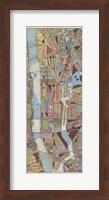 Modern Map of New York III Fine Art Print