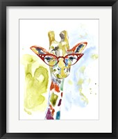 Smarty-Pants Giraffe Fine Art Print