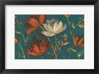 Moonlight Garden I Spice on Teal Fine Art Print