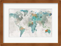 Blue Map Fine Art Print