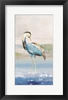 Heron on the Beach I Fine Art Print