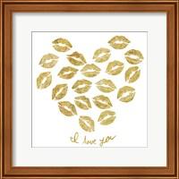 I Love you Gold Lips Fine Art Print