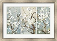 Triptych in Bloom Fine Art Print