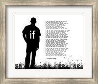 If by Rudyard Kipling - Man Silhouette White Fine Art Print