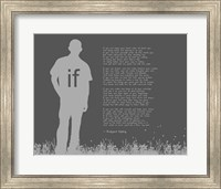 If by Rudyard Kipling - Man Silhouette Gray Fine Art Print