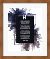 If by Rudyard Kipling - Powder Explosion Blue Fine Art Print