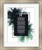 If by Rudyard Kipling - Powder Explosion Green Fine Art Print
