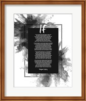 If by Rudyard Kipling - Powder Explosion Gray Fine Art Print