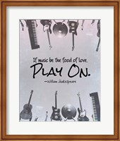 If Music Be The Food Of Love Shakespeare Musical Instruments Fine Art Print