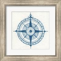 Indigo Gild Compass Rose II Fine Art Print