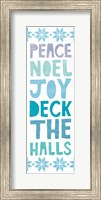 Deck the Halls Words Fine Art Print