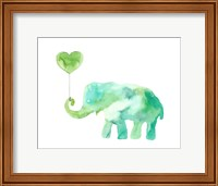Green Elephant Fine Art Print