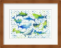 Triangle Sharks Fine Art Print