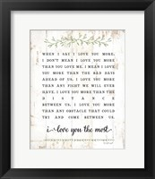 I Love You More Fine Art Print