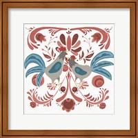 Americana Roosters II Fine Art Print