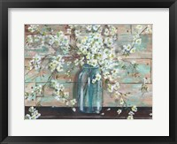 Blossoms in Mason Jar Fine Art Print