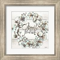 Cotton Boll Family Wreath Fine Art Print