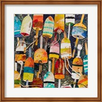 Buoy Collage Square Fine Art Print
